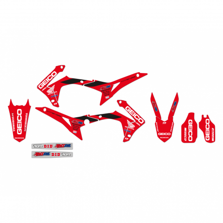 Kit déco Réplica Team Geico pour Honda CRF250R 14-17/CRF450R 13-16