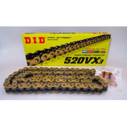 Chaine D.I.D 520VX3 X-Ring Noir/Noir