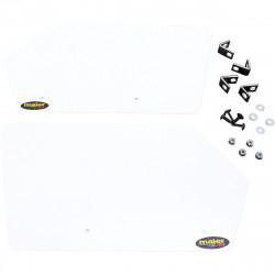Plaque numéro blanche MAIER pour POLARIS RZR 800 10-12/XP 900 11-13/XP-4 900 12-13