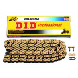 Chaîne de transmission D.I.D 428 NZ or/noir 124 maillons